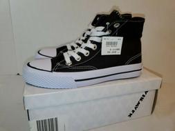 AirWalk Black Legacee high Canvas Sneakers Skate Tennis Shoe
