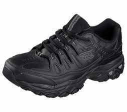 Skechers Wide Width Black shoe Men Memory Foam Sport Train C