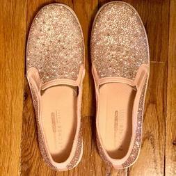 BNIB! WOMEN'S SKECHERS DOUBLE-UP GLITZY GAL SNEAKER IN ROSE