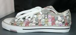 BOBS by Skechers Utopia Dandy Dogs Sz 9 Flat Lace up Sneaker