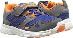 Stride Rite Boys' Made 2 Play Taylor Sneaker, Navy/Orange, 5