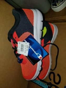 Boys Champion Size 3 1/2 orange Sneakers NEW with tag