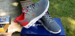 Boys Size 2 Youth Grey Champion Sneaker Shoes NIB
