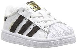 adidas Originals Boys' Superstar I Running Shoe, Black/White