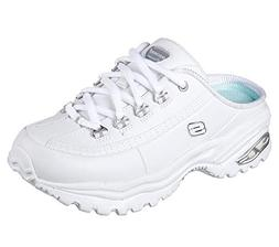 Skechers Premium Break-Even Womens Slip On Sneaker Clogs Whi