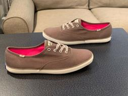 Keds Champion Brown Canvas Sneakers Tennis Shoes Women's S