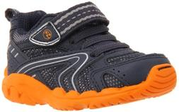 Stride Rite Callahan Sneaker ,Navy/Orange,4 W US Toddler