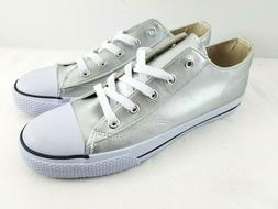 Airwalk Canvas Women's Shoe Sneakers Silver Low Cut Lace Up