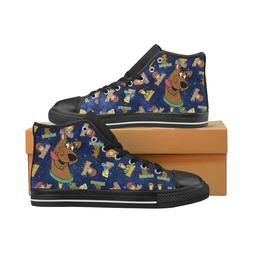 Cartoon Scooby Doo Lace Up Sneakers Classic High Top Canvas