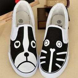 Cat&Dog Hand-painted Canvas Shoes for Women Men Boys Girls's