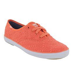 Women's Keds 'Champion - Eyelet' Sneaker, Size 8.5 M - Coral