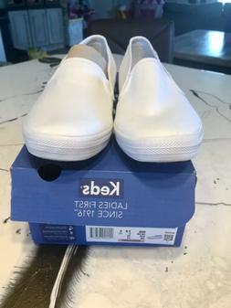 Keds Women's Double Decker Slip-On Sneaker, White, 10 M US