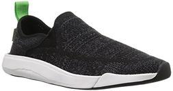Sanuk Unisex Chiba Quest Knit Sneaker, Black, 5 US Men / 6 U