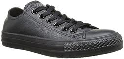 Converse Unisex Chuck Taylor Leather Black Leather Sneaker -