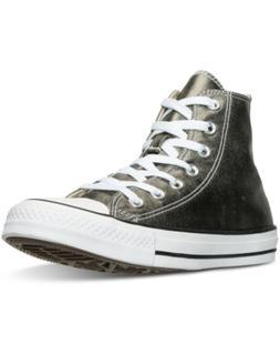 Converse Women's Chuck Taylor High-Top Metallic Leather Casu