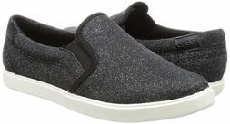 Crocs Women's CitiLane Black Shimmer Slip-On Sneakers  Size
