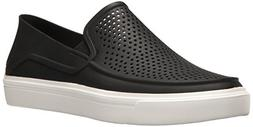 crocs Women's Citilane Roka Slip-On , Black, 9 M US