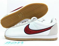 Nike Classic Cortez Premium Womens Shoes Sneaker White Red C