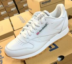 Reebok Classic Leather 49797 White Gum Sole Mens Shoes Fashi