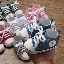 Classic Newborn Baby Boy Girl Crib Shoes Infant Sneakers Cas