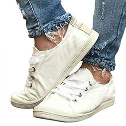 Huiyuzhi Womens Classic Slip On Casual Fashion Sneakers Comf