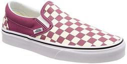 Vans Mens U Clasic Slip ON Checkerboard Dry Rose White Size
