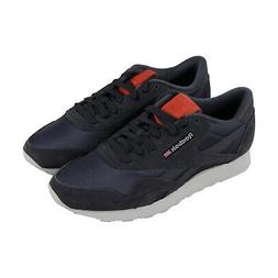 Reebok Classics Nylon M Mens Blue Black Nylon Low Top Sneake