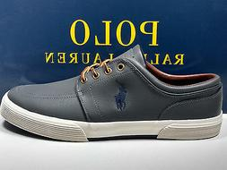CLEARANCE!! POLO RALPH LAUREN FAXON CHARCOAL GREY LEATHER SN