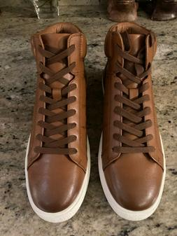 Clearance KINGSIDE Men's George High-Top Tan Sneakers - Size