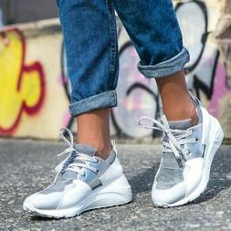 Steve Madden Cliff Grey & Silver Camo Sneakers. Women's 9 Pl