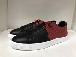 Puma Clyde ColorBlock 1 Sneaker Black-Chili Pepper Mens Size