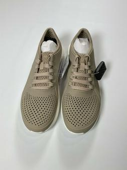 Crocs Cobblestone White Relaxed Fit Literide Pacer Shoe NEW!
