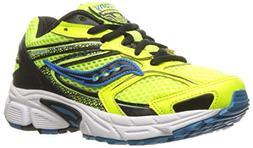 Saucony Cohesion 9 Lace Sneaker , Citron/Black/Blue, 10.5 M