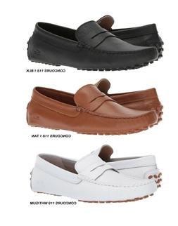 Lacoste Concours Men's Casual Slip on Croc Logo Leather Loaf