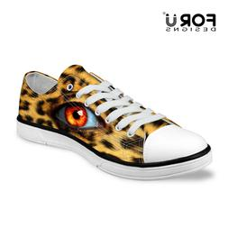 Cool Animal eye Shoes Women Low Top Canvas Shoes Lace Up Sne