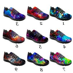 Galaxy Flats Running Sneakers Women Summer Light Mesh Shoes