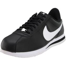 Nike Cortez Basic Leather Sneakers - Black - Mens