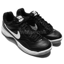 Nike Court Lite Black White Mens Tennis Shoes Sneakers Train