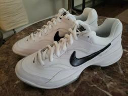 Nike Court Lite White Black Mens Tennis Shoes Sneakers Train