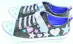 AIRWALK Craze Denim Glitter Girls Size 3 only 2 Pair Availab