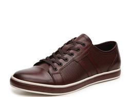 $138.00 Kenneth Cole Men Brand-Age Sneaker, Brown Leather, S