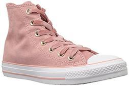 Converse Women's CTAS HI Rust Pink/Black/White Sneaker, Milk