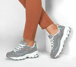 Skechers D'Lites Sparkling Rain Sneakers Casual    - GRAY/MU