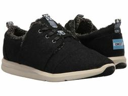 Toms DEL REY Womens Charcoal Wool Shearling 10008892 Lace Up
