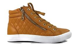 Forever Desire Quilted High Top Fashion Sneakers Zipper Flat