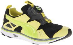 Puma Mens 'Disc LTWT 2.0' Sneaker Shoe, Fluorescent Green/Bl