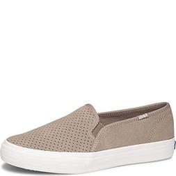 Keds Double Decker Perf Suede Women 8 Taupe
