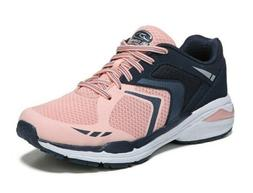 Dr. Scholl's Women's Navy/Pink Wide Width Lace-up Athletic S