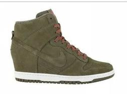 Nike Dunk Sky High Hi Hidden Wedge Sneakers 528899-200 Woman