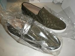 Steve Madden Ecntrcqt Women's Sz 9 Olive Slip On Fashion S
